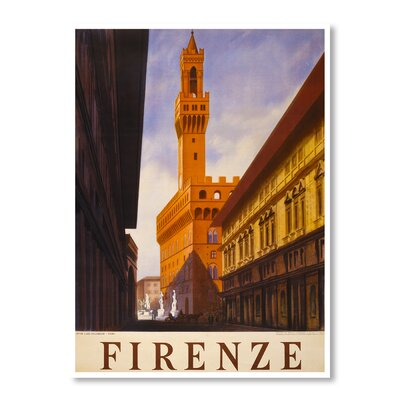Americanflat Firenze by Chad Hyde Photographic Vintage Advertisement on Canvas