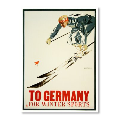 Americanflat Germany Winter Sports by Chad Hyde Vintage Advertisement Wrapped on Canvas
