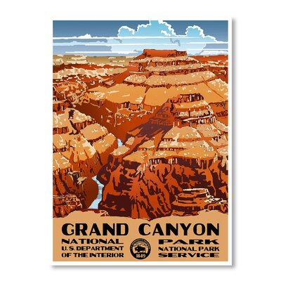 Americanflat Grand Canyon National Park by Chad Hyde Vintage Advertisement on Canvas