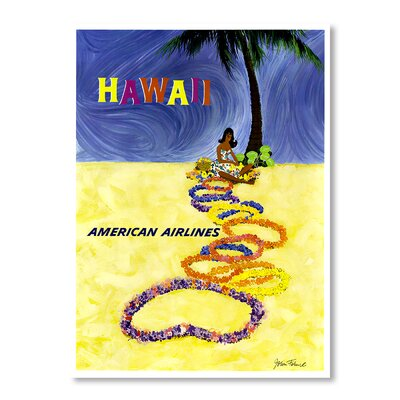 Americanflat Hawaii by Chad Hyde Vintage Advertisement Wrapped on Canvas