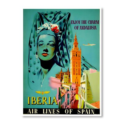 Americanflat Iberia by Chad Hyde Vintage Advertisement on Canvas
