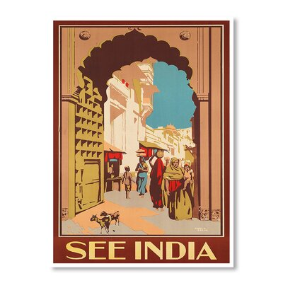 Americanflat India by Chad Hyde Vintage Advertisement on Canvas