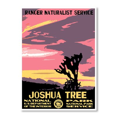Americanflat Joshua Tree National Park by Chad Hyde Vintage Advertisement on Canvas
