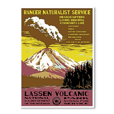 Americanflat Lassen Volcanic National Park by Chad Hyde Vintage Advertisement Wrapped on Canvas