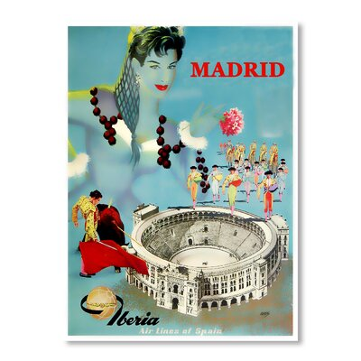 Americanflat Madrid Chad Hyde Vintage Advertisement Wrapped on Canvas
