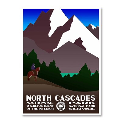 Americanflat North Cascades National Park by Chad Hyde Vintage Advertisement in Brown