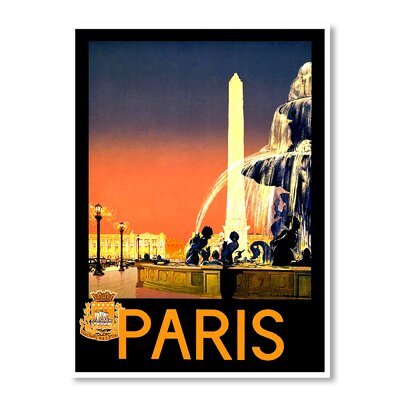 Americanflat Paris by Chad Hyde Vintage Advertisement on Canvas