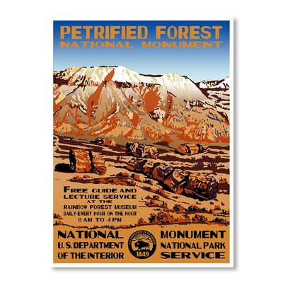 Americanflat Petrified Forest National Park by Chad Hyde Vintage Advertisement on Canvas
