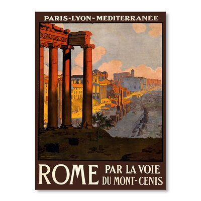 Americanflat Rome by Chad Hyde Vintage Advertisement on Canvas