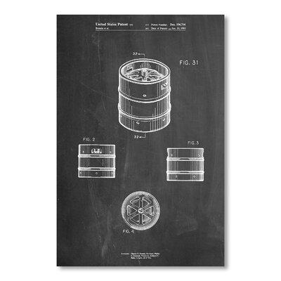 Americanflat Beer Keg by House of Borders Graphic Art in Grey