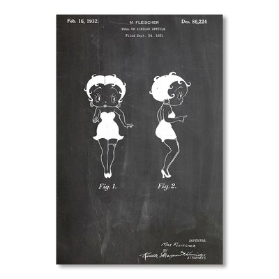Americanflat Betty Boop by House of Borders Graphic Art in Grey