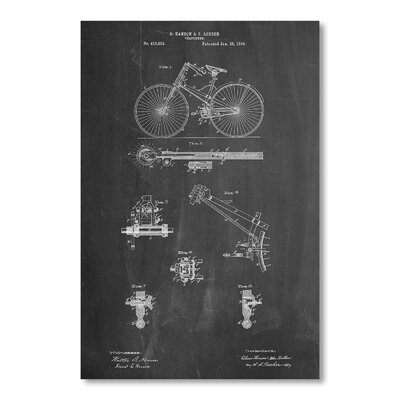 Americanflat Bicycle 1890 by House of Borders Graphic Art in Grey