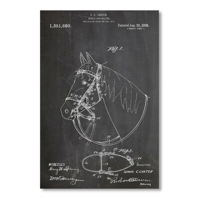 Americanflat Bridle and Halter by House of Borders Graphic Art in Grey