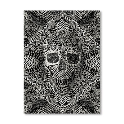 Americanflat Skull Laces by Ali Gulec Graphic Art in Grey