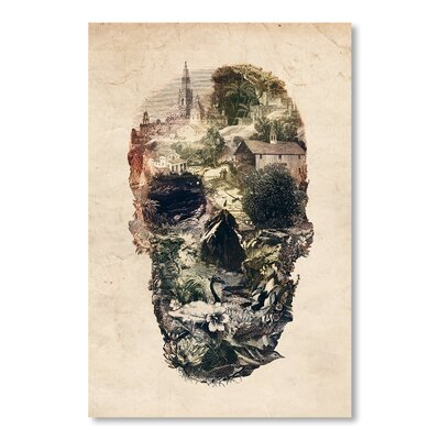 Americanflat Skull Town S6 by Ali Gulec Graphic Art