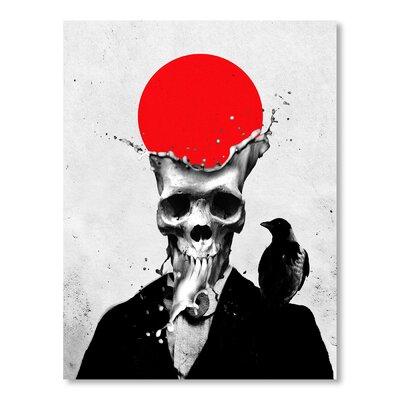 Americanflat Splash Skull by Ali Gulec Graphic Art