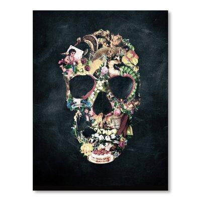 Americanflat Vintage Skull by Ali Gulec Graphic Art in Black