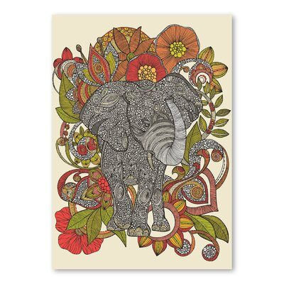 Americanflat Bo the Elephant by Valentina Ramos Graphic Art