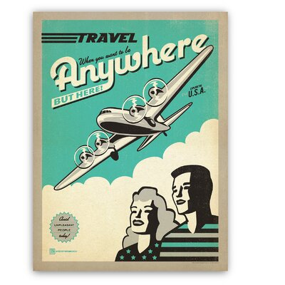 Americanflat Travel Plane by Anderson Design Group Vintage Advertisement in Turquoise