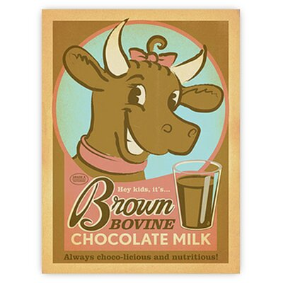 Americanflat Brown Bovine by Anderson Design Group Vintage Advertisement in Brown