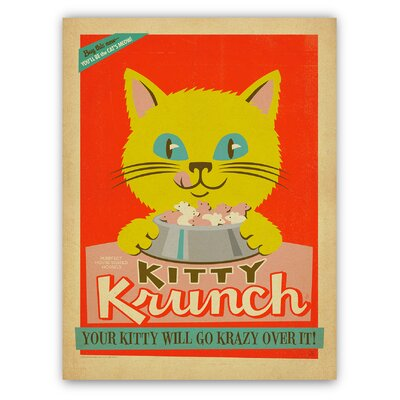 Americanflat Kitty Krunch by Anderson Design Group Vintage Advertisement