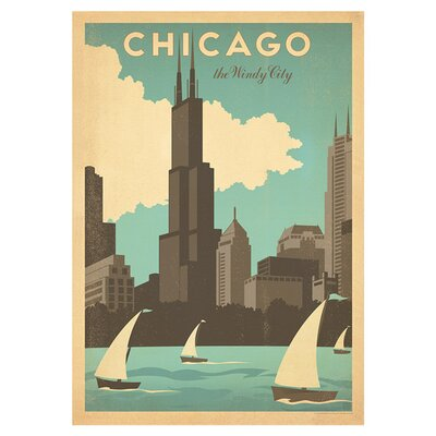 Americanflat Chicago Windy City by Anderson Design Group Vintage Advertisement