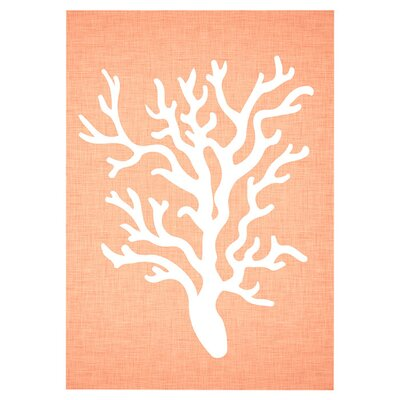 Americanflat Coral Graphic Art Wrapped on Canvas