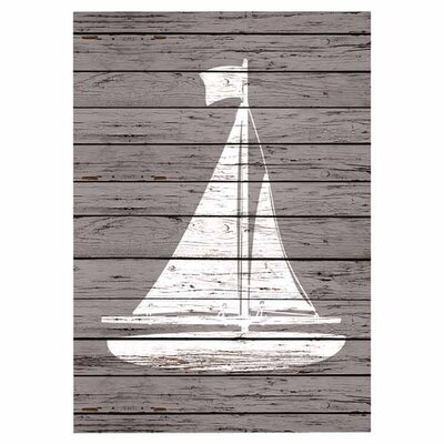 Americanflat Quad Sailboat Graphic Art Wrapped on Canvas