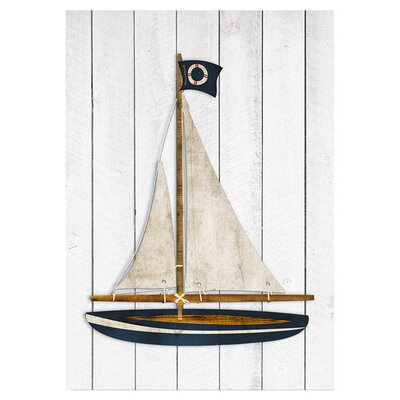 Americanflat Sailboat Graphic Art Wrapped on Canvas