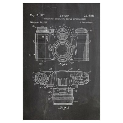 Americanflat Camera Photo by House of Borders Graphic Art in Grey