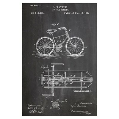 Americanflat Bicycle Gear by House of Borders Graphic Art in Grey