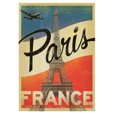 Americanflat Paris Flag by Anderson Design Group Vintage Advertisement