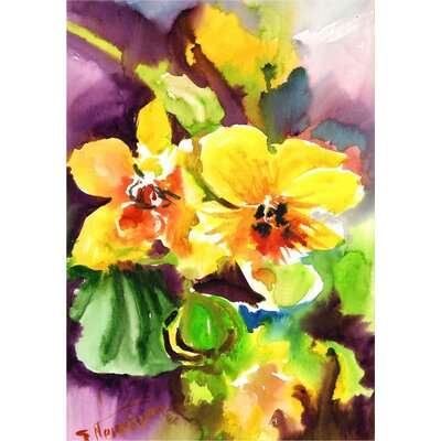 Americanflat 'Orchids' by Suren Nersisyan Painting Print on Wrapped Canvas