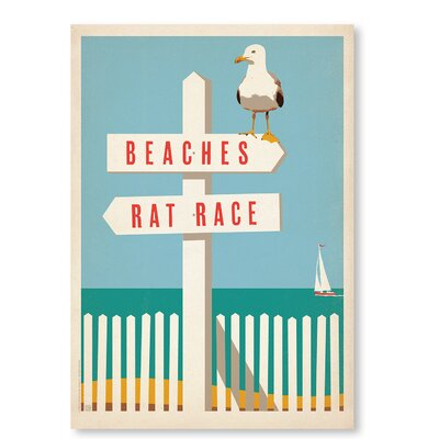 Americanflat Beach Rat Race by Anderson Design Group Vintage Advertisement in Blue