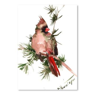 Americanflat Female Cardinal by Suren Nersisyan Art Print