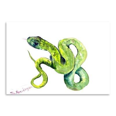 Americanflat Florida Rough Snake 2 by Suren Nersisyan Art Print