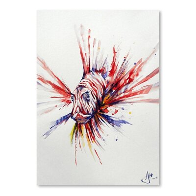 Americanflat Pterois Art Print Wrapped on Canvas