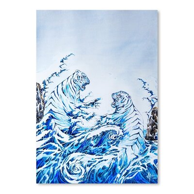 Americanflat The Crashing Waves by Marc Allante Art Print