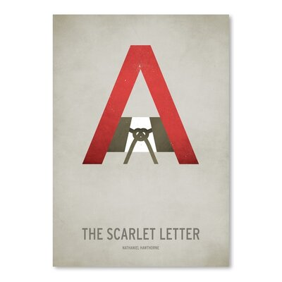 Americanflat The Scarlet Letter Minimal Graphic Art