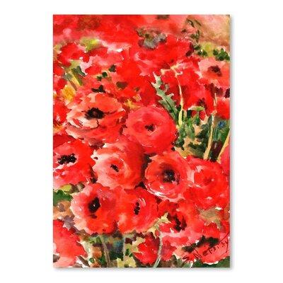 Americanflat Red Buttercups Art Print