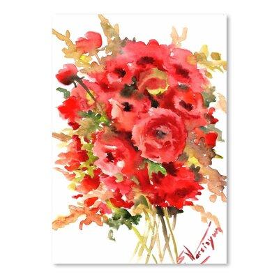 Americanflat Ranunculus Art Print