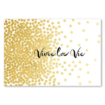 Americanflat Vivre la Vie Graphic Art Wrapped on Canvas