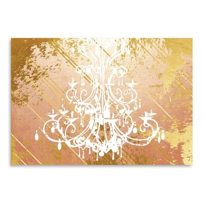 Americanflat Rose Glow Graphic Art Wrapped on Canvas