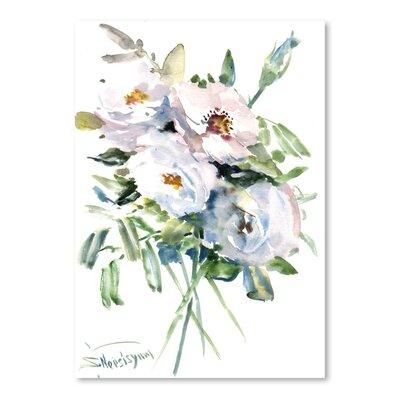 Americanflat White Roses by Suren Nersisyan Art Print