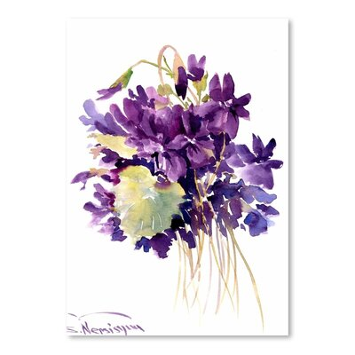 Americanflat Wild Violets by Suren Nersisyan Art Print