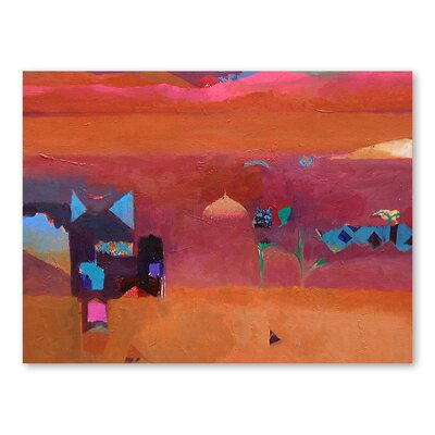 Americanflat The Pinks of The Atlas Mountains Art Print Wrapped on Canvas