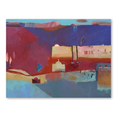 Americanflat The Road to The Desert Art Print Wrapped on Canvas