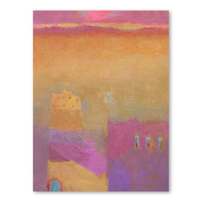Americanflat The Road to Zagora Art Print Wrapped on Canvas