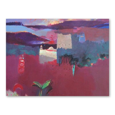 Americanflat The Valley of the Roses Art Print Wrapped on Canvas