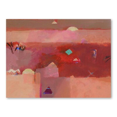 Americanflat White Domes Art Print Wrapped on Canvas